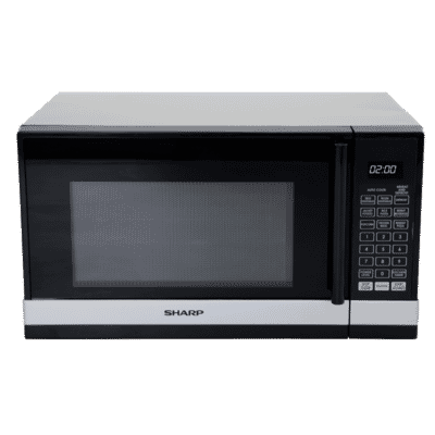 800W Black/Silver Compact Microwave