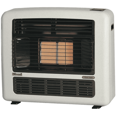 Titan 151 Radiant NG Silver Heater Unflued